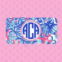 Front License Plate  Monogram Lilly Pulitzer by pinkblossomdesign, $15.99