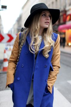 Street style Paris Fashion Week Fall 2013..Color Block
