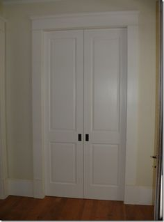 double pocket doors for master closet. Would love these for my laundry room