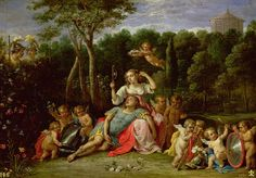 The Garden Of Armida Painting by David the younger Teniers
