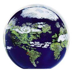 519F Glass Eye Studio Celestial Earth - #1 GLASS EYE STUDIO Approved Retail Dealer Crystal River Gems