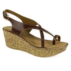 Πλατφόρμες πέδιλα με δάκτυλο δερμάτινες Wedges, Shoes, Fashion, Moda, Zapatos, Shoes Outlet, Fashion Styles, Shoe, Footwear