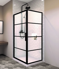 Examine this crucial photo and also browse through the here and now suggestions on Bathroom Remodel Tile Corner Shower Doors, Framed Shower Door, Glass Shower Doors, Glass Corner Shower, Glass Shower Enclosures, Acrylic Shower Walls, Tempered Glass Door, Black Shower, Shower Units