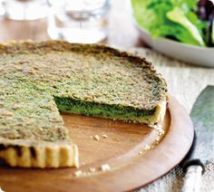 Sensational Spinach Tart. My mother made this tart often, and its still the best I've tasted. It has a denser texture than a quiche and a wonderful green colour. http://www.annabel-langbein.com/