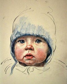 #Art #artist #Semenchuk #portrait #child #graphic #byDariaSemenchuk