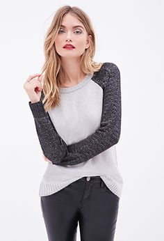 Raglan Cable Knit Sweater | LOVE21 - 2000110123