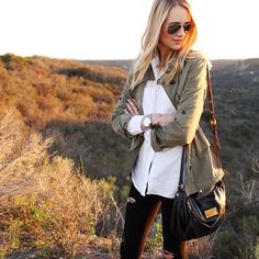 @fashion_jackson's military jacket is a must have item for 2015 | Get the details directly to your inbox when you register at www.LIKEtoKNOW.it and like this photo | www.liketk.it/MwAo #liketkit #Padgram
