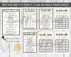 Bachelorette Party Games Bundle Bridal Shower Game Kit Bridal | Etsy
