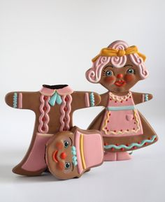 Mab Graves - Her Waifs and Strays — Domestic Bliss - Mr. & Mrs. Gingerbread - original art sculptures by Mab Graves