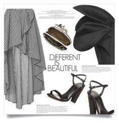"""DIFFERENT IS BEAUTIFUL!"" by shoaleh-nia ❤ liked on Polyvore featuring Caroline Constas, Vika Gazinskaya, Oscar de la Renta, Alexander McQueen and KAROLINA"