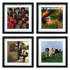 Pink Floyd | Framed Album Art Set of 4 Images | ArtRockStore