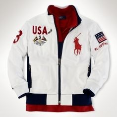 Getting some Olympic spirit with Polo? Camisa Polo Ralph Lauren, Street Casual Men, Vetement Hip Hop, Mens Casual Leather Shoes, Mens Sweatshirts, Hoodies, Polo Jackets, Dope Outfits For Guys, Swagg