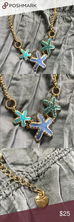 BETSEY JOHNSON starfish necklace LIKE NEW! MINT CONDITION! Cutest nautical statement necklace! Betsey Johnson Jewelry Necklaces
