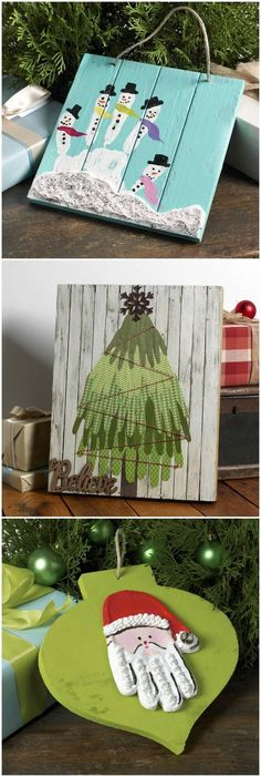 Handprint crafts are a fun favorite with small children! Make special memories with these three cute and easy Christmas craft ideas. via @modpodgerocks