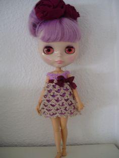 Vestido de crochet para Blythe por blythemia en Etsy, €23.00