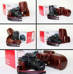 camera + leather case Slr Camera, Leather Case, Eos, Leather Pencil Case, Leather Pouch