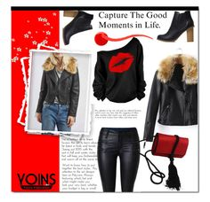 """""""YOINS #4"""" by e-mina-87 ❤ liked on Polyvore featuring Salvatore Ferragamo, Balmain and yoins"""
