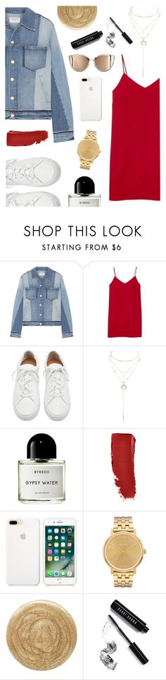 """""""Patchwork Jacket"""" by tqangel ❤ liked on Polyvore featuring Frame, Alexia Ulibarri, Loeffler Randall, Charlotte Russe, Byredo, Nixon, Burberry and Bobbi Brown Cosmetics"""