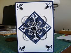 Love this blue and white card.