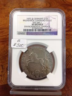 NICE! 1692 Germany 2/3 Thaler NGC XF DETAILS RARE COIN COPPER KM # 346.1 in Coins & Paper Money, Coins: World, Europe | eBay