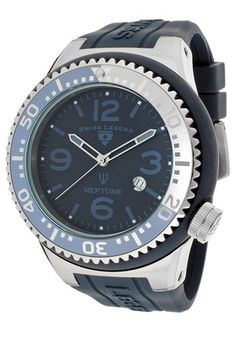 Swiss Legend Watch 21818s B MG Men's Neptune Dark Blue Dial Dark Blue Silicone | eBay
