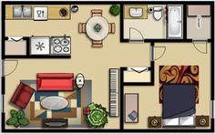 bedroom floor plan - Google Search