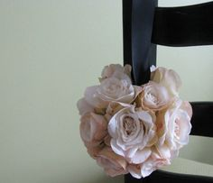 Pomander Flower Girl or Pew Chair Aisle Chuppah by astylishdesign, $40.00