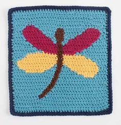 Add an crochet intarsia dragonfly to your next crochet afghan. Dragonfly - Media - Crochet Me