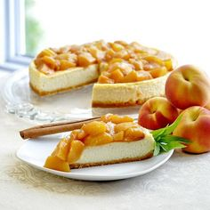 Peaches and Cream Flan with Roasted Honey Peach Compote