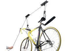 AGT Platzsparender Fahrrad Aufhänger mit komfortablem Liftsystem