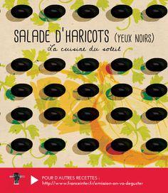 """SALADE D'HARICOTS YEUX NOIRS : une recette grecques conseillée par Vassilis Alexiou dans """"On va déguster"""" sur France Inter - RECETTE ICI : http://www.franceinter.fr/emission-on-va-deguster-cuisine-du-soleil-4-eme-volet-la-grece"""