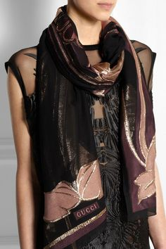 Plum, clay, black and bronze silk-blend jacquard 61% silk, 31% acetate, 8% polyester Dry clean