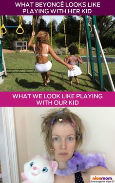 Beyoncé Playing With Her Kid vs. Normal Moms Playing With Their Kids by @letmestart on @NickMom