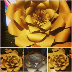 Paper Flower made from 100% recycled material... Upcycling