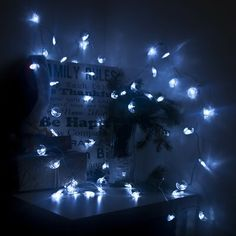 The Holiday Aisle Christmas Moon 50 Light String Lights Star String Lights, Icicle Lights, White Led Lights, Solar Lights, Light String, C9 Christmas Lights, Christmas Projector, Potted Christmas Trees, Holiday Lights