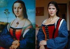Florentine dress, based on Raphael's portrait of Maddalena Strozzi Doni (ca. 1506).