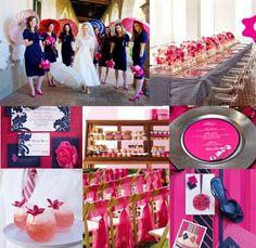 Decoración de Boda en Rosa y Azul - Para Más Información Ingresa en: http://centrosdemesaparaboda.com/decoracion-de-boda-en-rosa-y-azul/