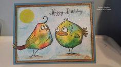 Card made with Tim Holtz Crazy Birds. #TimHoltz #CrazyBirds