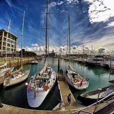 The Viaduct Harbour in Auckland New Zealand. Back in 2011/2012, when I was living in NZ for 6 months, this was one of my favourite spots in Auckland. Whether it was for lunch in the afternoon or for dinner and drinks at night, it was always pretty amazing there. #GoPro #city #auckland #newzealand #travel