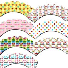 Carnival Cupcake Wrappers by outsidetheboxdessert on Etsy, $10.00