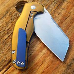 Copper and blue anodizing job www.tisurvival.com #tisurvival #titanium #knifeporn #usnstagram #anodizingservices