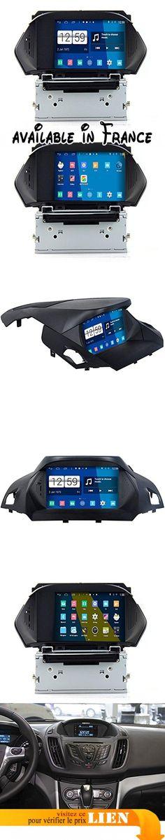 Roverone Système Android 8 Pouces Autoradio GPS pour Ford Kuga Escape 2013 2014 2015 2016 avec navigation radio stéréo DVD Bluetooth SD USB écran tactile. Ce modèle est spécial pour Ford Kuga évasion 2013201420152016; ce modèle ne peut pas accueillir la voiture avec navigation GPS d'origine;. Prise en charge de 25secondes pour démarrer -- forte puce intégrée; CPU: RK31881.6GHz Cortex A9Quad Core, Samsung DDR31Go de RAM et 16Go de