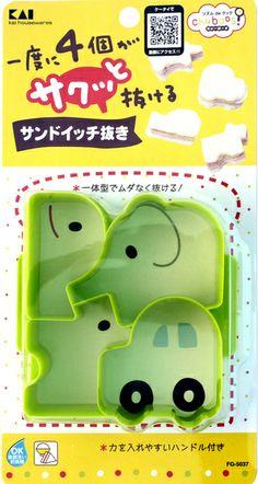 Kai Houseware Cute Sandwich Cutter (Sandoicchi Nuki) 65g