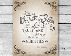 INSTANT DOWNLOAD  It Is Our Choices Harry by SweetPeaTypography, $6.00