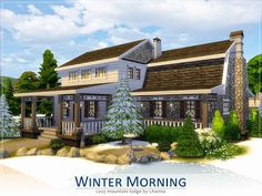 My Sims 4 Blog: Lhonna's Winter Morning House