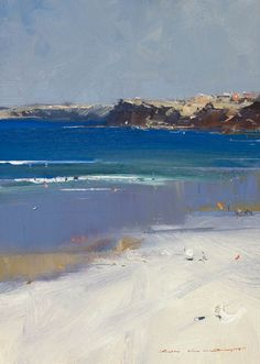 """Bondi Beach"", oil on canvas, 20cm x 27cm, Ken Knight - Tryon Gallery"