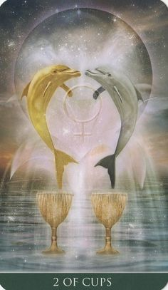 Two of Cups - Thelema Tarot