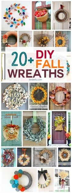 Beautiful fall wreaths to make this year! So many fun DIY projects to decorate for the upcoming fall months. Over 20 ideas!