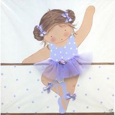 Cuadro Niña Ballet 002 Morado