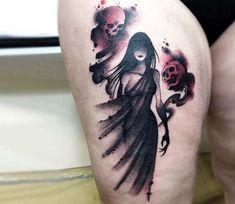 Ghost tattoo by Claudia Denti